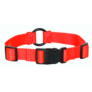 Adjustable Safe-rite Nylon Dog Collar with Safety Tape