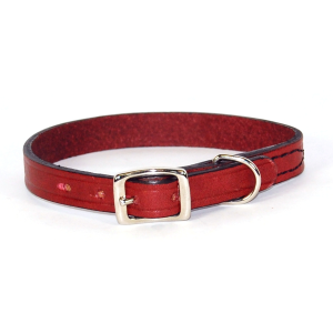 Creased Leather Dog Collar