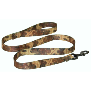 Nylon Dog Leash with Swivel Snap and Loop-Leaf Camo