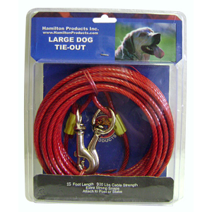 Heavy Cable Dog Tie-Out