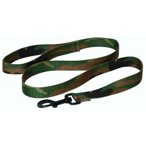 Nylon Dog Leash with Swivel Snap and Loop-Camo