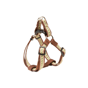 Outdoorsman Adjustable Easy-On Dog Harness-Brown Stripe