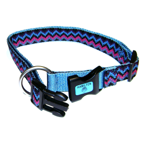 Fully Adjustable Dog Collar with Deluxe Webbing-Weave Design