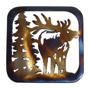 Elk Facing Forward Coaster