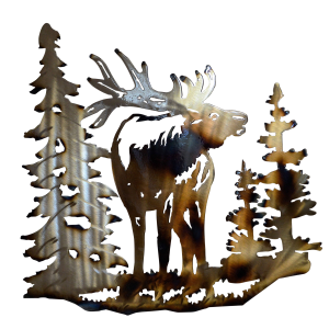 Elk Facing Forward Wall Art