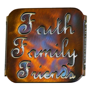 Faith, Family, Friends Coaster