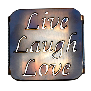 Live, Love, Laugh Coaster