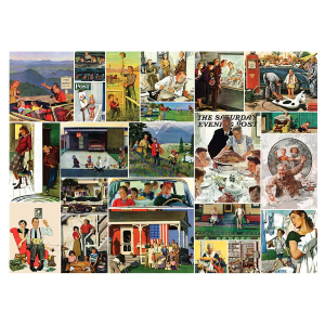 Saturday Evening Post Family Time Collage 1000 Piece Puzzle