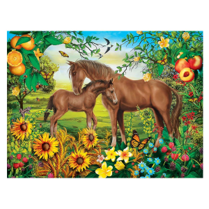 Green Acres Neighs & Nuzzles 300 Piece EZ Grip Puzzle