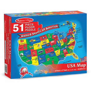 U.S.A Map Floor Puzzle - 51 Pieces