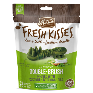 Fresh Kisses Double Brush Dental Treats - XS Dog