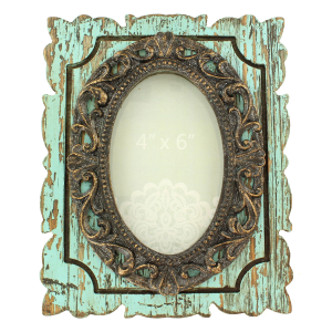 Distressed Polyresin Photo Frame