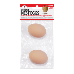 Ceramic Nest Eggs - Brown