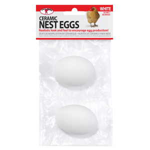 Ceramic Nest Eggs - White
