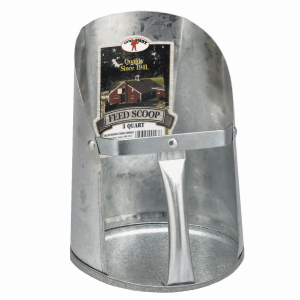 3 Quart Galvanized Feed Scoop