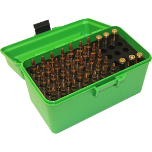 H-50 Deluxe Rifle Ammo Box - 50 Round