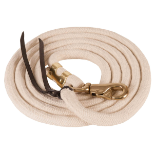 Pima Cotton Lead Rope with Bull Snap & Leather Popper End