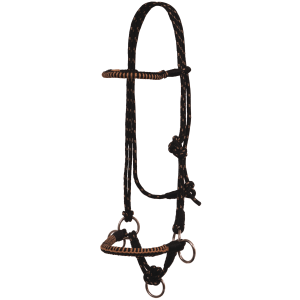 Side Pull Rope Halter w/Braided Nose
