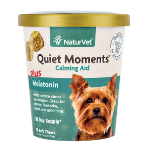Quiet Moments Plus Melatonin Soft Chew Cup for Dogs
