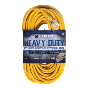 12 Gauge Heavy Duty Indoor/Outdoor Extension Cord