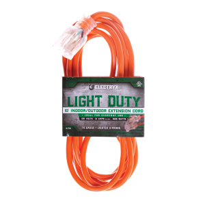16 Gauge Light Duty Indoor/Outdoor Extension Cord - Orange