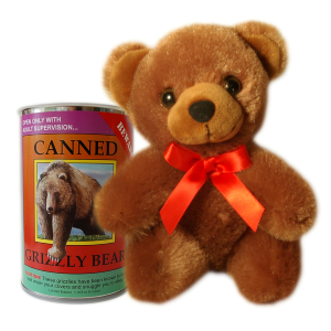 "6"" Canned Grizzly Bear"