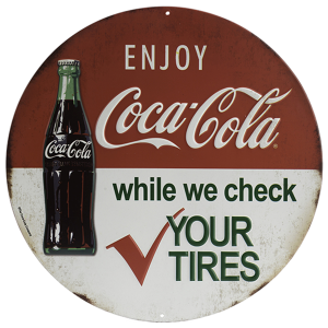 Coca-Cola Tires Metal Sign