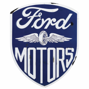 Ford Motors Diecut Metal Sign