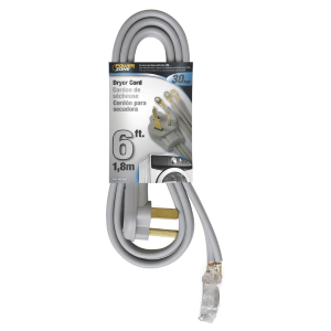 6' Gray Dryer Cord - 10/3