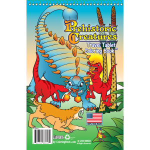 "Travel Tablet Prehistoric Creatures 5.5"" x 8.5"""