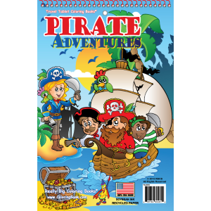 "Travel Tablet Pirate Adventures 5.5"" x 8.5"""