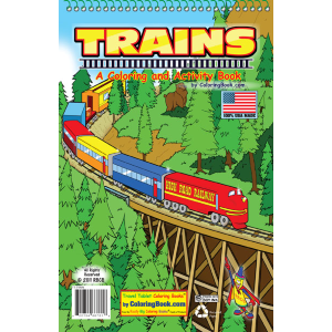 "Travel Tablet Trains 5.5"" x 8.5"""