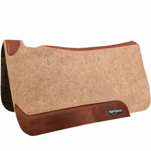 Square Contour Saddle Pad - Wool Felt
