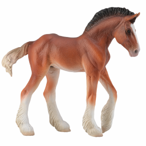 Bay Clydesdale Foal - Vinyl Miniature
