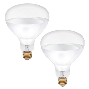 250 Watt Clear Heat Lamp Bulb - 2 Pack