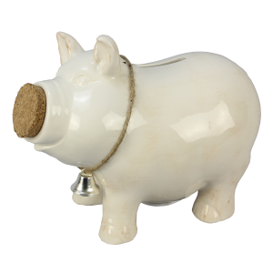 Ceramic Piggy Bank with Bell